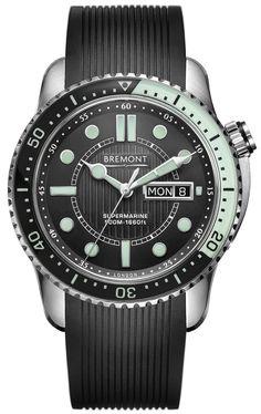 Bremont Watch Supermarine 500 Black Green