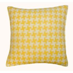 Jiti Houndstooth Outdoor Throw Pillow Color: