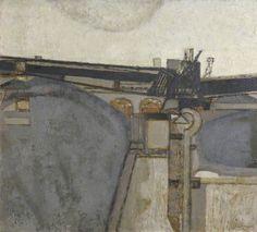 Prunella Clough, Brit Painter - Oil on canvas. Declined both OBE in 1968 & CBE in Urban Landscape, Abstract Landscape, Abstract Art, Landscape Paintings, London Art, Art Uk, Your Paintings, Art Forms, Oil On Canvas