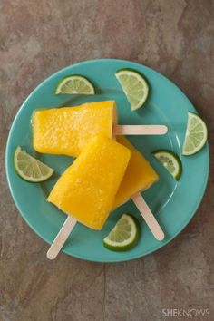 A two-sip shot and mango margarita pops