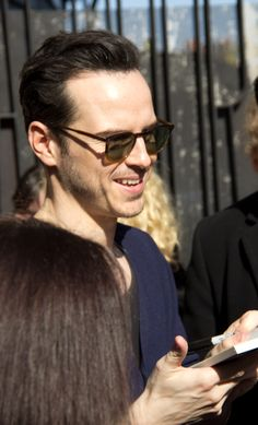 Andrew Scott signing autographs after Birdland (03 May 2014)