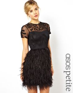 Feather Skirt New Years Eve Party Dress   NYE   Outfit Inspiration   #sidesmileshops