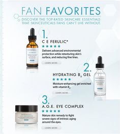 What are the top 3 SkinCeuticals products? Come into Renewal Skin Care Studio and find out!