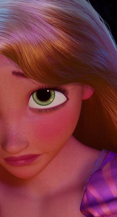 Rapunzel. She is one of the most beautiful and adorable Disney characters. Her face so young and innocent.