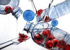 기초디자인 : 포장벗긴 삼다수 + 방울토마토 + 은제나이프 Ap Drawing, Ap Studio Art, Japan Design, Medium Art, Art Studios, Art And Architecture, Watercolor Art, Design Art, Drawings