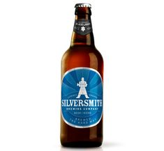 Silversmith Beer Bottle Graphic Design Product Photography