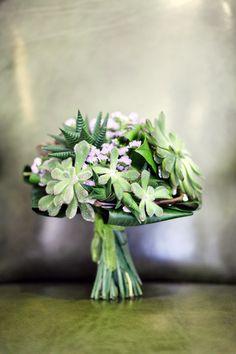 Exhibit Emotions Photography Succulent Wedding Bouquet 2