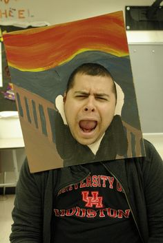 walking paintings for YOUTH ART MONTH - the scream---make 3-D for sculpture. wearable with relief sections