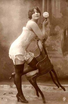 Sensual vintage lady