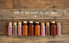 Easy and inexpensive gift idea using infused salts and jars from eBay. Great hostess gift idea.