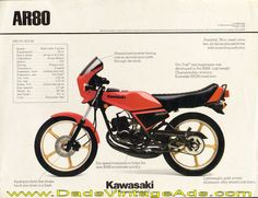 1982 Kawasaki AR80 dealer sheet photos & specs