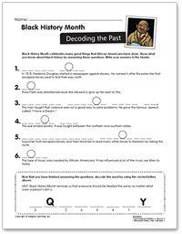 free black history month worksheets for kindergarten women s history month worksheets free. Black Bedroom Furniture Sets. Home Design Ideas