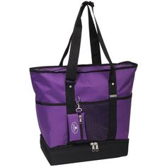 Everest Luggage Deluxe Shopping Tote, Dark Purple/Black, Dark Purple/Black, One Size Everest