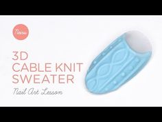 3D Cable Knit Sweater Nail Art Tutorial (Neiru Lesson) - YouTube