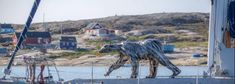 Pourquoi un ours 🐻 en #acier venu du Jura navigue au Groenland ? #PascalBejeannin Giraffe, Sculptures, Animals, Global Warming, Steel, Artist, Law School, Felt Giraffe, Animales