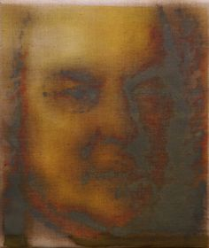portrait of J.S. Bach, 33x28 cm, oil on linnen, 2016 #Bach #painting #contemporary