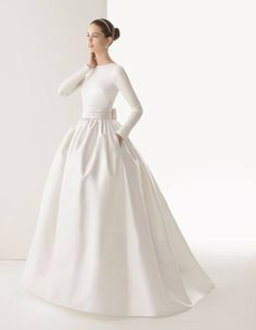 Rosa Clara 2014 Corcega - 12 Luscious Long Sleeve Wedding Dresses for Autumn/Winter Brides - Wedding Blog | Ireland's top wedding blog with real weddings, wedding dre...
