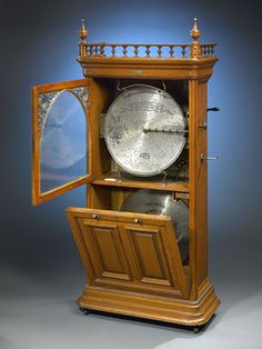 Antique Music Boxes, Disk Players, Regina Sublima Upright ~ M.S. Rau Antiques