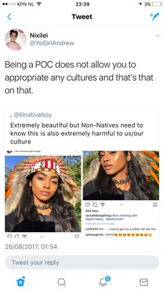 This is important!! Being POC doesn't give you a free pass to appropriate any culture that isn't yours.