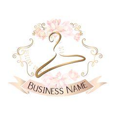 Flowers Shop Logo Pink 62 Ideas For 2019 Shop Logo, Custom Logo Design, Custom Logos, Diy Design, Rundes Logo, Mode Logos, Hanger Logo, Restaurant Logo, Logo Samples