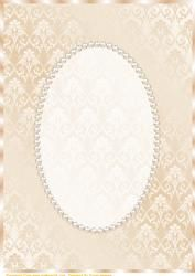 Cream Damask and Pearl Card Front on Craftsuprint - View Now!
