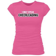 I only speak cheerleading. Kate, cute for your girls for a camp t-shirt.