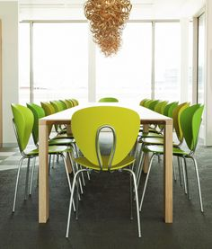 STUA's Globus chairs in the offices of Publicis in Dublin.