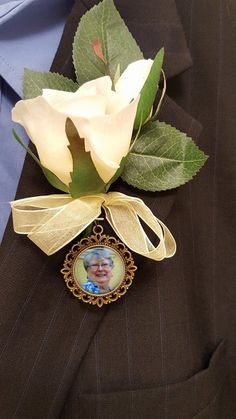Double-sided memorial Boutonniere Charm  by NowThatsCharming