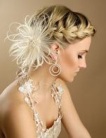 bridal hairstyle Coiffure de mariage / bridal hair style My old hair styles Cute Prom Hairstyles, Prom Hair Updo, Braided Hairstyles For Wedding, Short Wedding Hair, Formal Hairstyles, Girl Hairstyles, Braided Updo, Braid Hairstyles, Bridesmaid Hairstyles