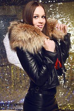 Женские из натуральной кожи куртки меховой воротник дизайнер короткие куртки для женщин Осенние кожаные пальто Бесплатная доставка