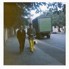 Paul walking along Cavendish Avenue with Martha, 1967
