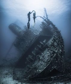 Freediver ballet at the Giannis D Wreck Red Sea   Photo by Vaclav Krpelik