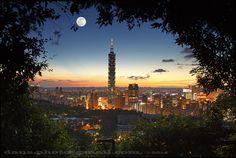 full moon over Taipei 101, #Taiwan
