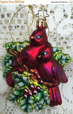 SALE Cardinal Inge Glas Christmas  Tree by TreasureofMemories