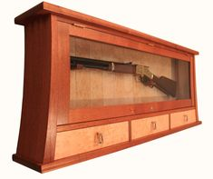Custom Made Gun Display Case and Cabinet by MorleyFurniture