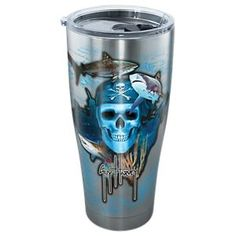 Tervis Tumbler Guy Harvey Pirate Skull Stainless Steel Tumbler with Clear Lid - 30 oz.