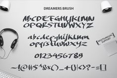Introduction to Dreamers Brush. A hand-made brush fonts by Get Studio, designed to combine perfectly and allow you to create stunning hand-lettering q...