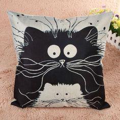 Cartoon Kitten Pillow Case