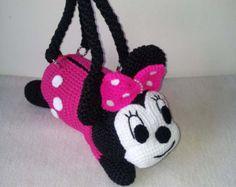 Minnie Maus Handarbeit häkeln Handtasche Geburtstagsgeschenk, Weihnachtsgeschenk, perfekt für jedes Mädchen.