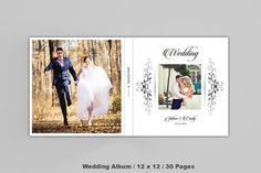 12x12 Wedding Album Template | 30 Pages Album Template | Photoshop and Elements Template |...