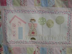 an angels story quilt Hatch Patch, Anni Downs, Angel Stories, Patches, Quilts, Angels, Baby, Appliques, Thinking Of You
