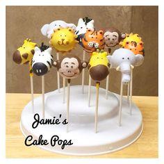 Jungle, Safari, Zoo Animal Cake Pops