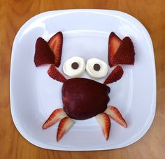 "Your kids won't be ""crabby"" when you serve them this fun and easy to make summer snack! So Cute!"