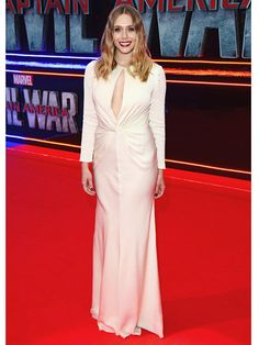 Elizabeth Olsen's Plunging Gown at the Captain America:... #ElizabethOlsen: Elizabeth Olsen's Plunging Gown at the Captain… #ElizabethOlsen