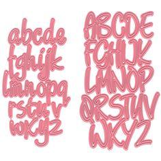 """Ecstasy Crafts Marianne Design Collectables Dies Alphabet, 2.44""""X4.25"""""""