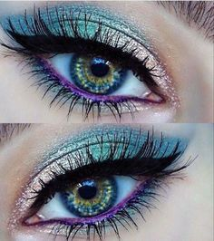 How To remove waterproof eyeliner? Make up eyes - If eyeliner and mascara are waterproof, this places special demands on your eye make-up remover. Makeup Hacks, Makeup Goals, Makeup Kit, Makeup Inspo, Eyeshadow Makeup, Makeup Inspiration, Makeup Brushes, Beauty Makeup, Hair Makeup