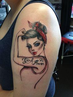 Pinup girl tattoo #girlpower
