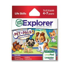 LeapFrog Pet Pals 2 Learning Game (works with LeapPad Tablets, LeapsterGS, and Leapster Explorer), http://www.amazon.com/dp/B004MWL07O/ref=cm_sw_r_pi_awdl_ms0Ksb1QFDMD2