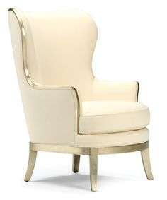 'Ava' Wing Chair: Hollywood Regency-style Mixed With Traditional Elegance, $2,499.00 - vielleandfrances.com