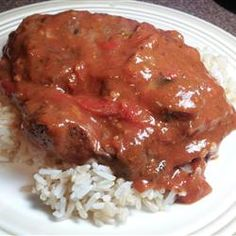 Swiss Steak. Added a bit of beef broth and Worcestershire sauce... so good!